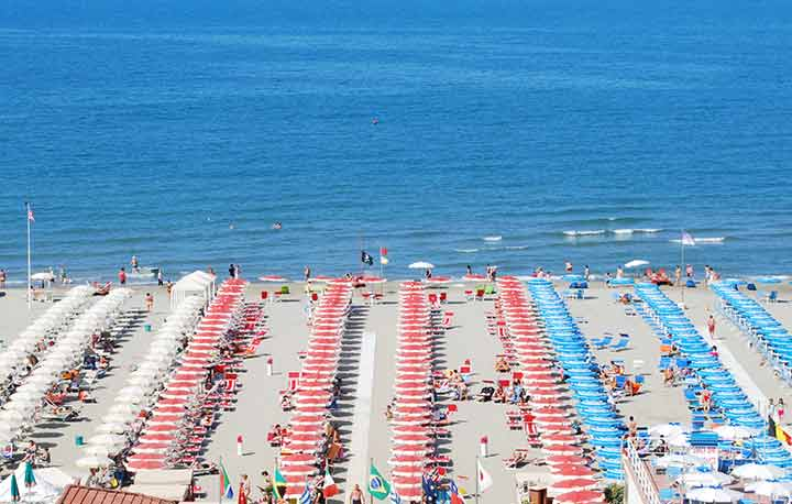 Beach of Lido di Camaiore